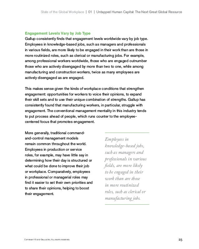 25Copyright © 2017 Gallup, Inc. All rights reserved. State of the Global Workplace 01   Untapped Human Capital: The Ne...