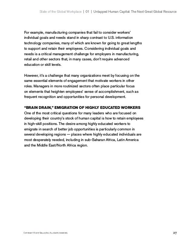 27Copyright © 2017 Gallup, Inc. All rights reserved. State of the Global Workplace 01   Untapped Human Capital: The Ne...