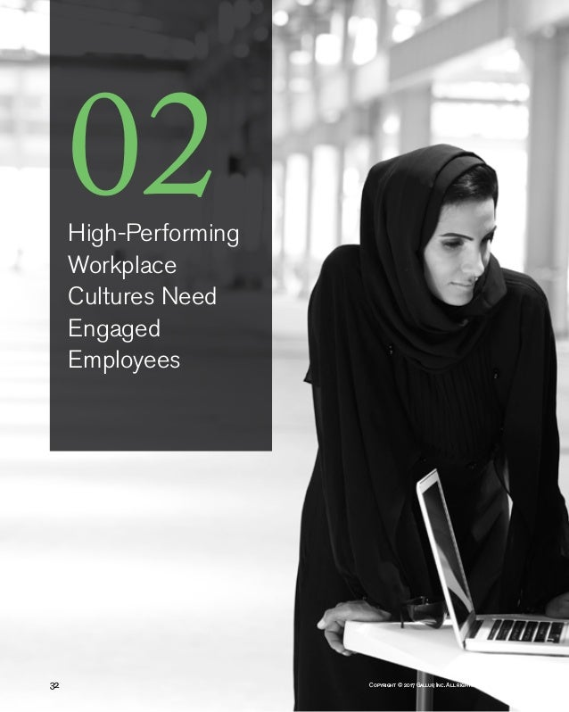 Copyright © 2017 Gallup, Inc. All rights reserved.32 02High-Performing Workplace Cultures Need Engaged Employees