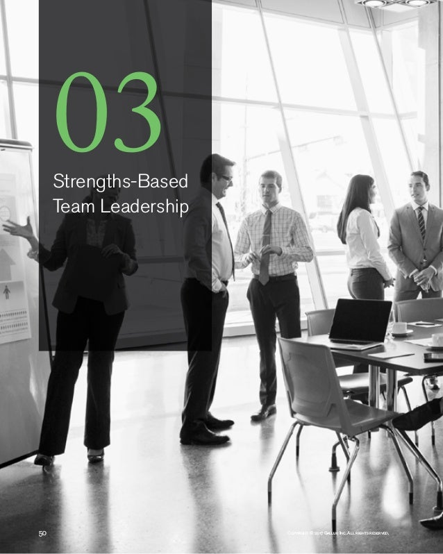 50 Copyright © 2017 Gallup, Inc. All rights reserved. 03Strengths-Based Team Leadership