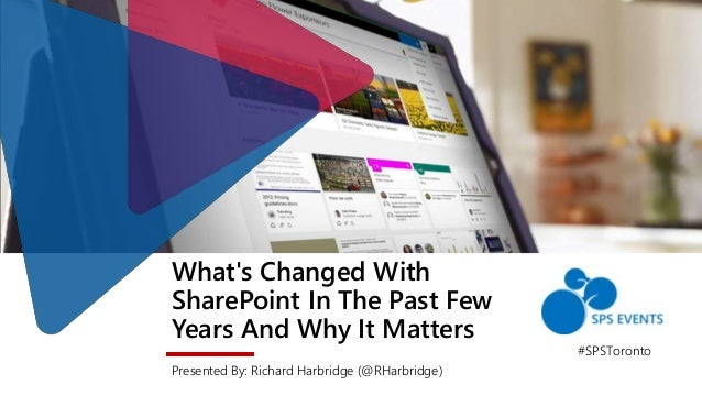 What's Changed With SharePoint In The Past Few Years And Why It Matters Presented By: Richard Harbridge (@RHarbridge) #SPS...
