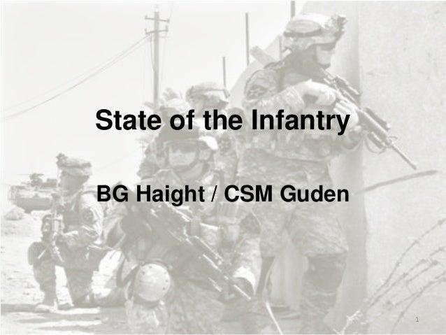 State of the Infantry BG Haight / CSM Guden  1