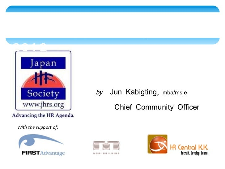 With the support of: <ul><li>by   Jun Kabigting,  mba/msie </li></ul><ul><li>Chief Community Officer </li></ul>State of th...