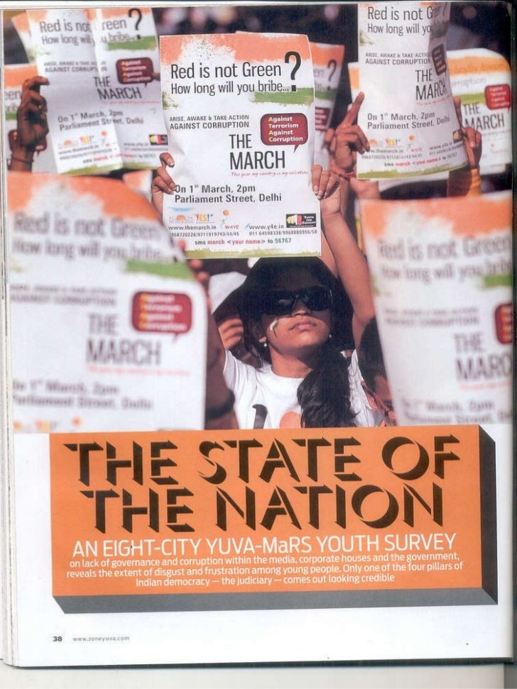 youth in India survey-State of the nation   by yuva-mars  Slide 1