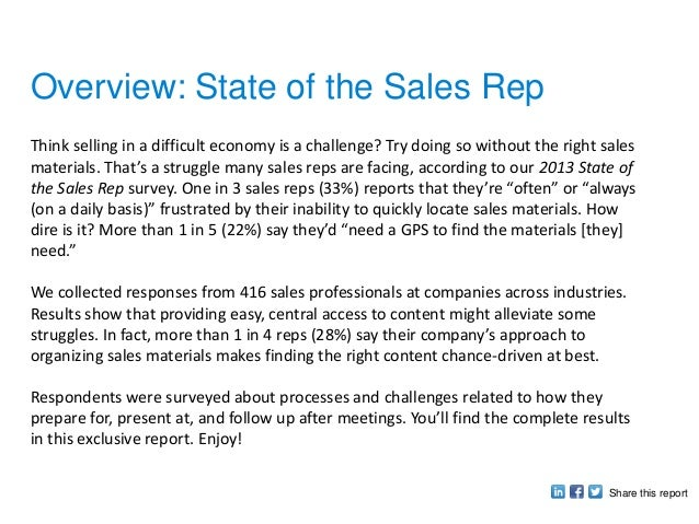 State of the Sales Rep Report Slide 2