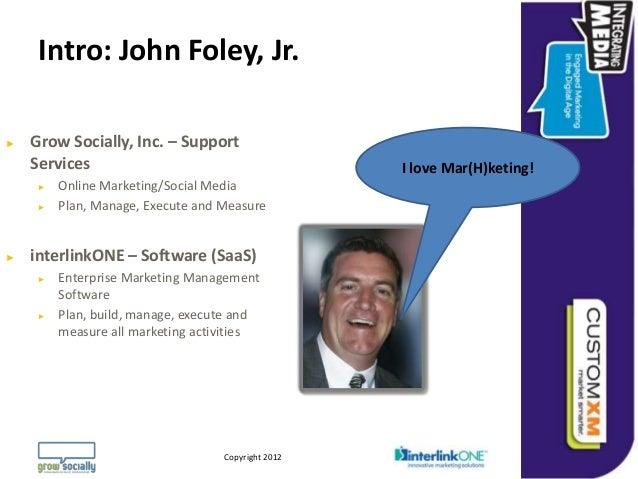 Intro: John Foley, Jr.►   Grow Socially, Inc. – Support    Services                                                       ...
