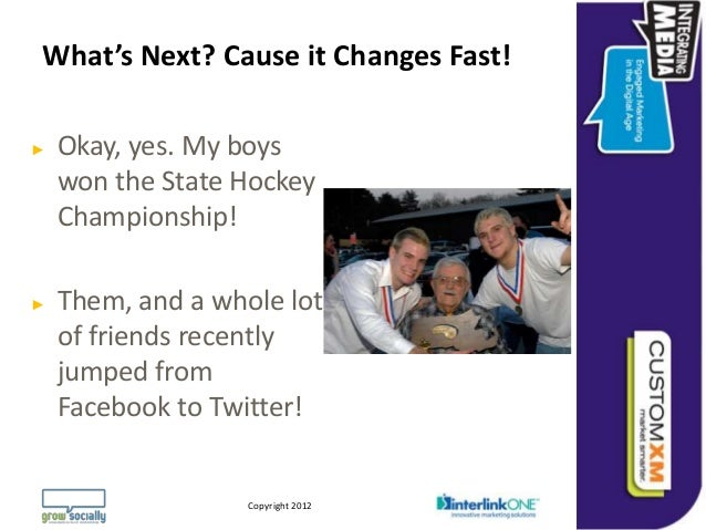What's Next? Cause it Changes Fast!►   Okay, yes. My boys    won the State Hockey    Championship!►   Them, and a whole lo...