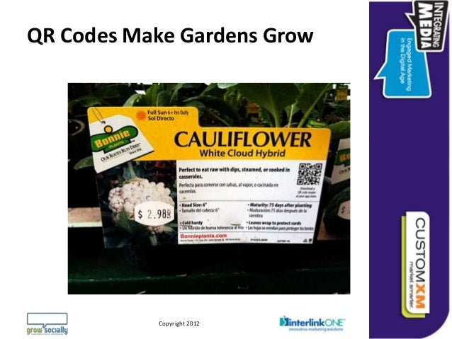 QR Codes Make Gardens Grow                                                                Questions or Comments?        Co...