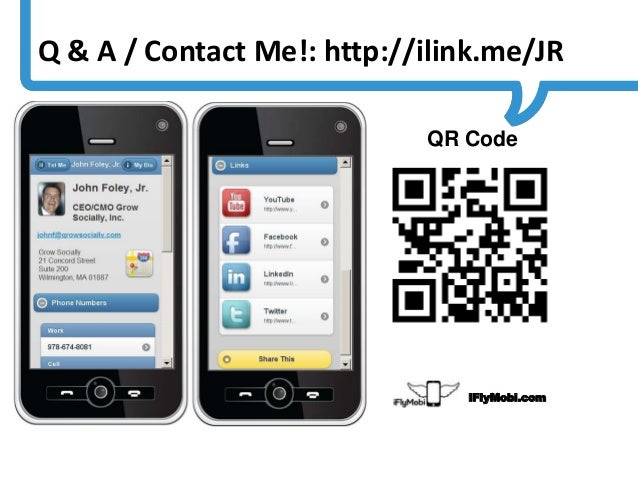 Q & A / Contact Me!: http://ilink.me/JR                                                                     QR Code       ...