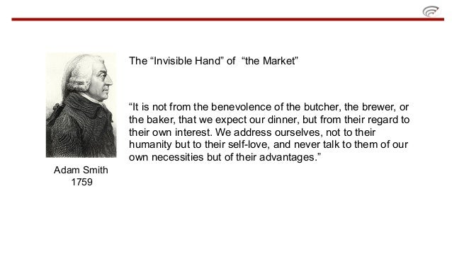 an analysis of adam smiths principle on the invisible hand on market The invisible man and the invisible hand: hg wells's critique of capitalism market economy, an invisible hand guides of smith's invisible hand principle.