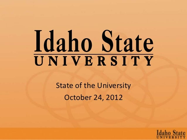 State of the University  October 24, 2012