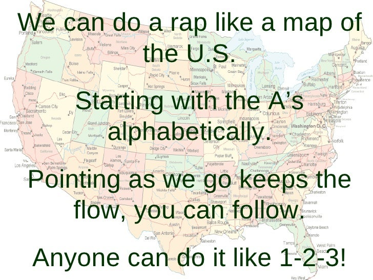State Rap Jennings - Rap of the map of the us