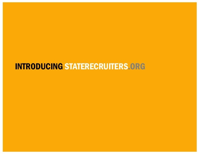 introducing staterecruiters.org