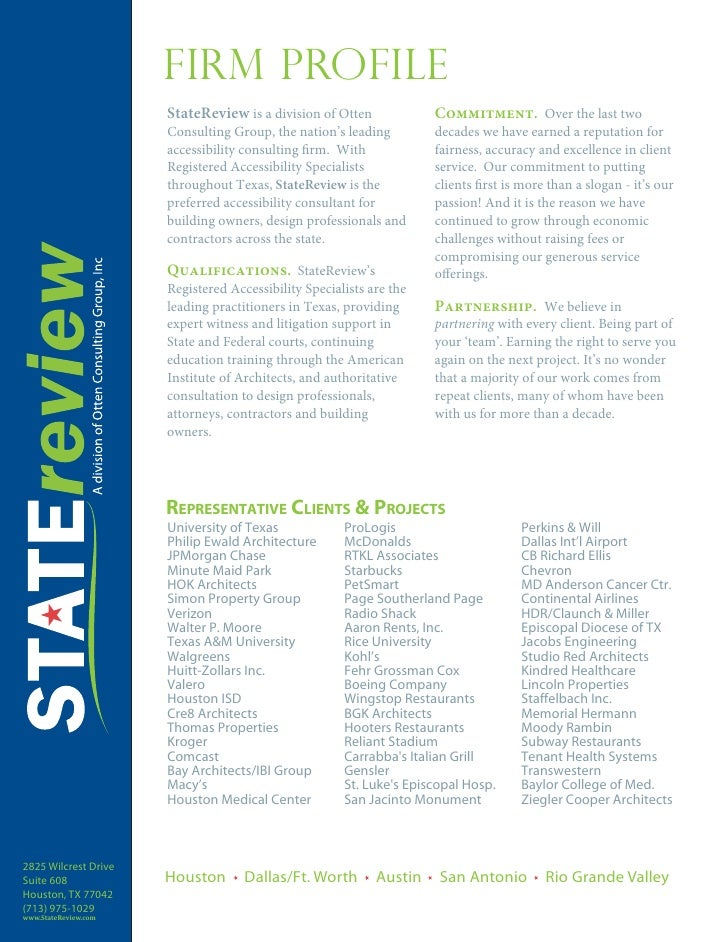 Firm Profile                      StateReview is a division of Otten             Commitment. Over the last two            ...