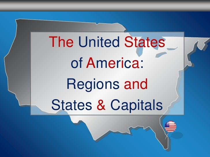 U.S. Regions, States & Capitals