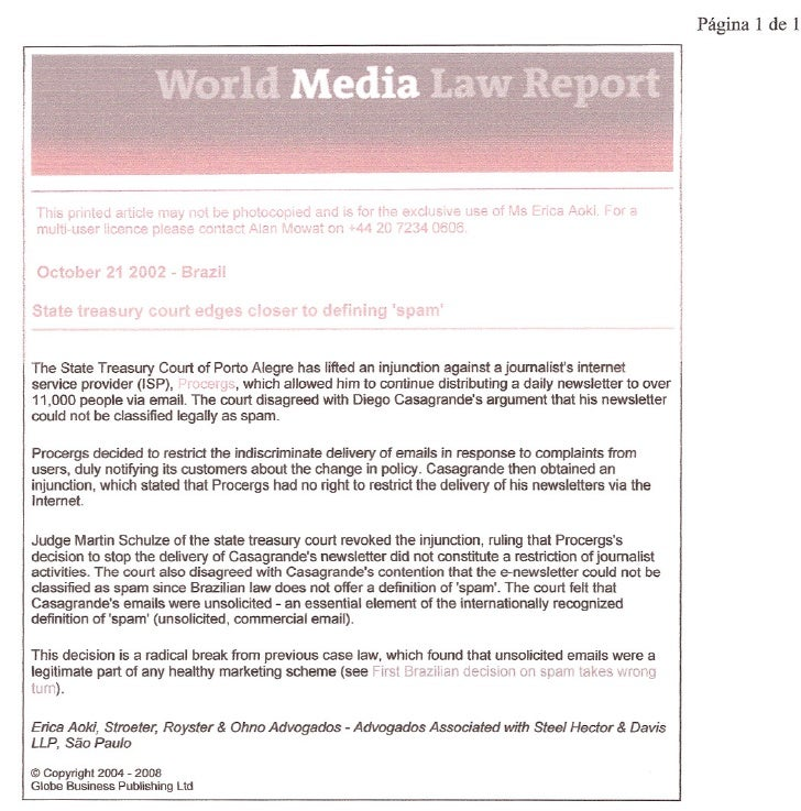 IIII       multl-user licence please contact Alan Mowa~ on 1-44 20 7234 0606li    This printed article 11ay ,)ot be photoc...