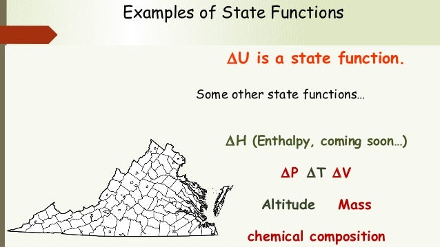 State Versus Path Functions