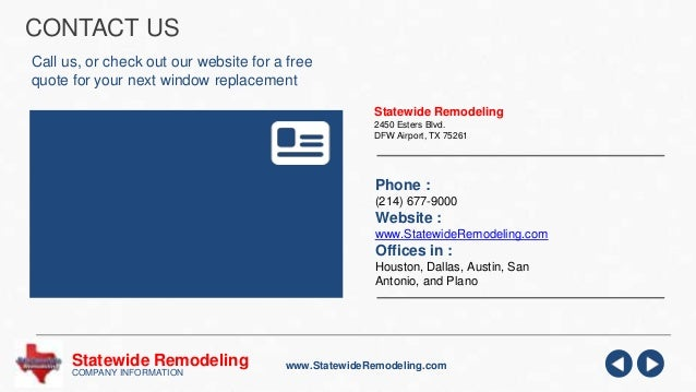 Statewide Remodeling Replacement Windows