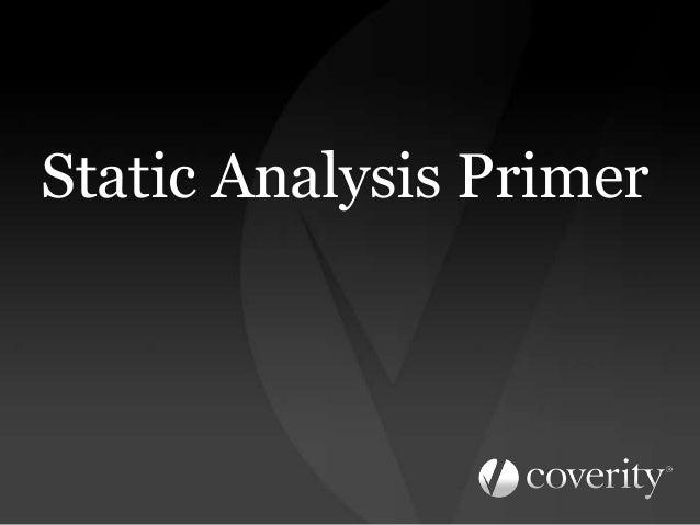 Static Analysis Primer