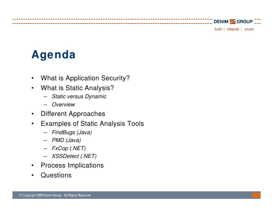 Static Analysis Techniques For Testing Application Security - Houston…
