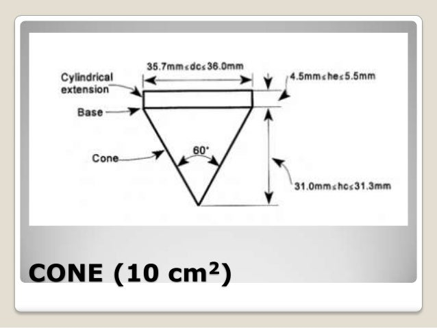 static cone penetration test is code