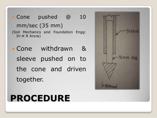cone penetration test procedure pdf