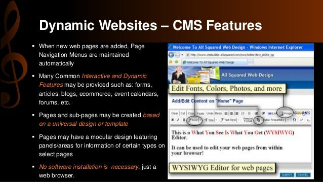 Static Dynamic And Active Web Pages