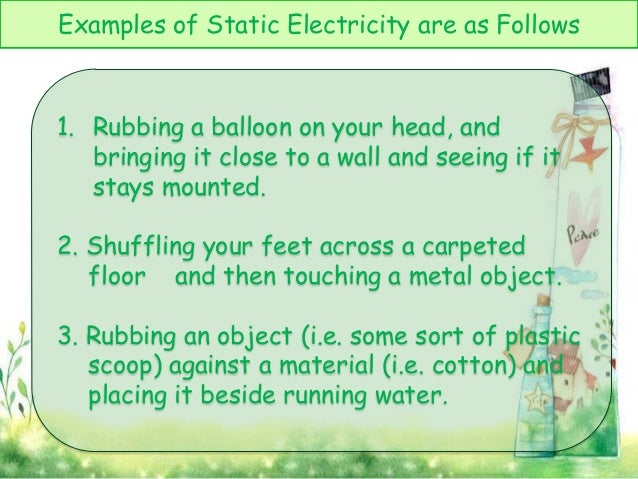 Examples Of Static Electricity