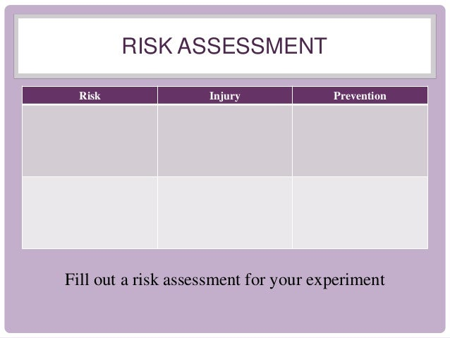 Electricity Experiment Risk Assessment