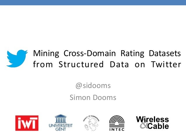 Mining Cross-Domain Rating Datasets from Structured Data on Twitter @sidooms Simon Dooms