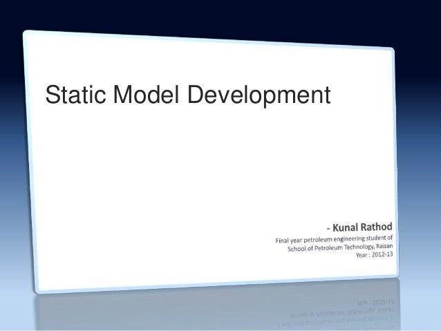 Static Model Development