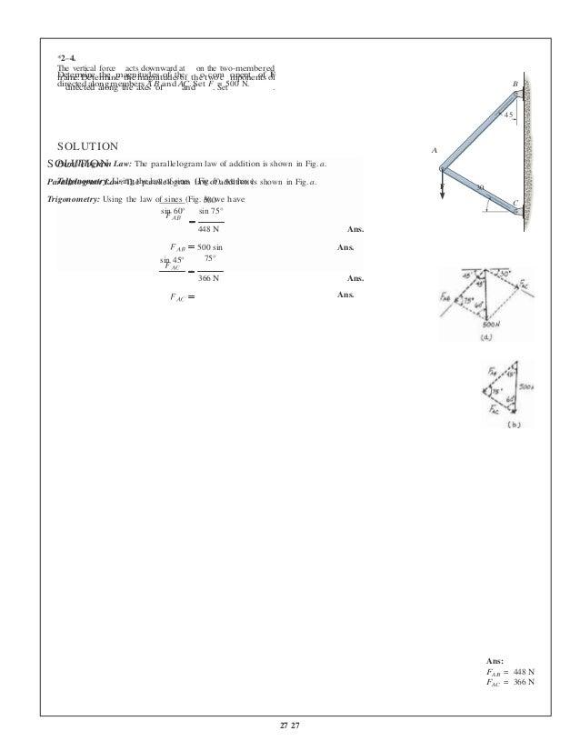 mechanics of materials hibbeler solution manual