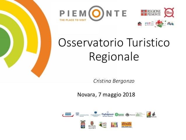 Osservatorio Turistico Regionale Cristina Bergonzo Novara, 7 maggio 2018