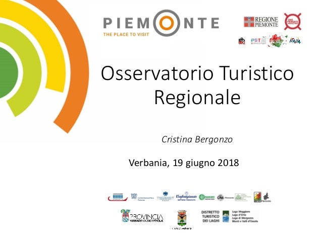 Osservatorio Turistico Regionale Cristina Bergonzo Verbania, 19 giugno 2018