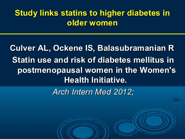 possible relationship between statins the development of diabetes
