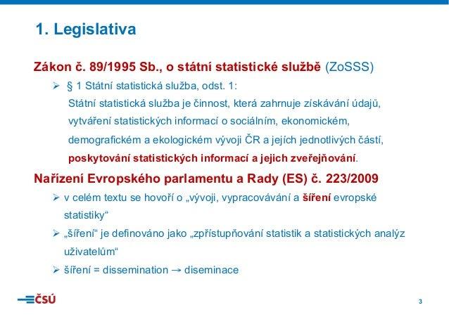Statistické informace ČSÚ Slide 3