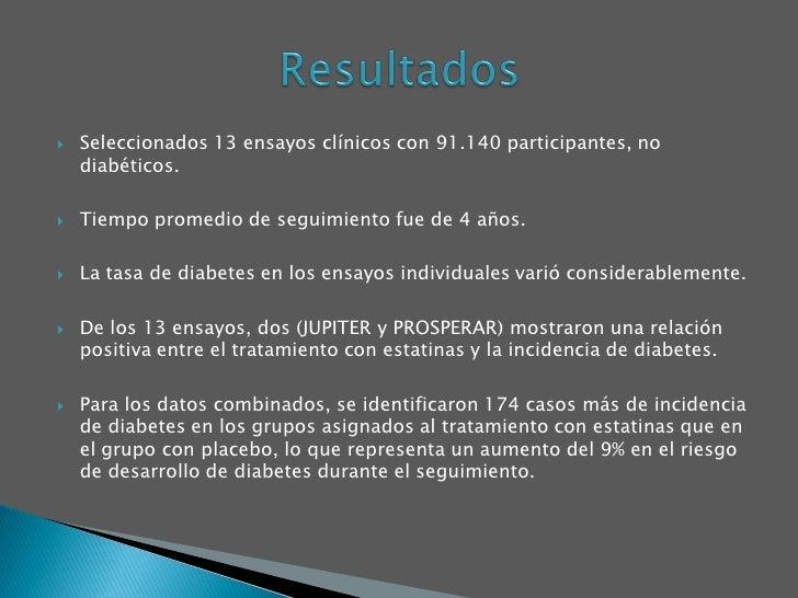 Estatinas y riesgo de Diabetes