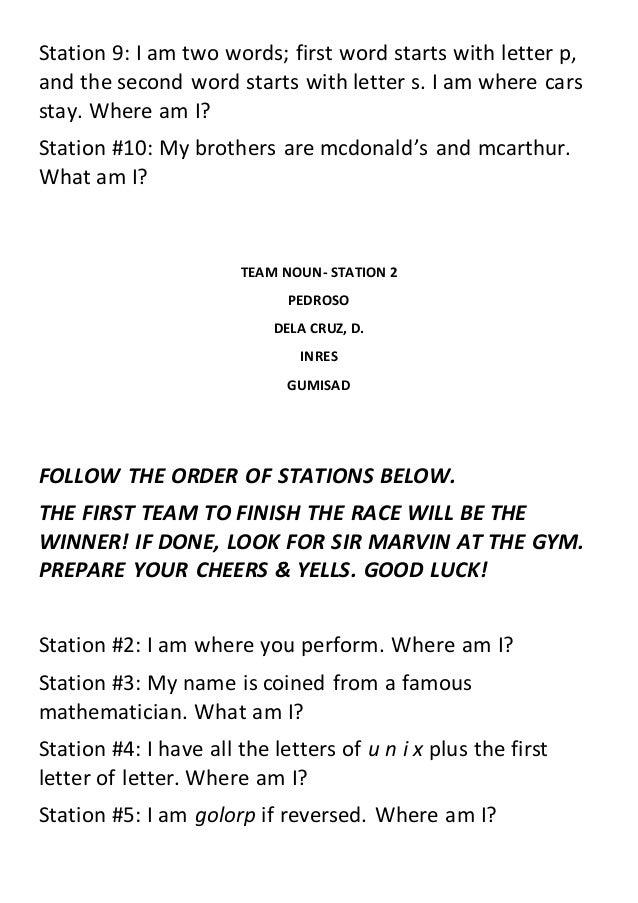 English Grammar Station Map