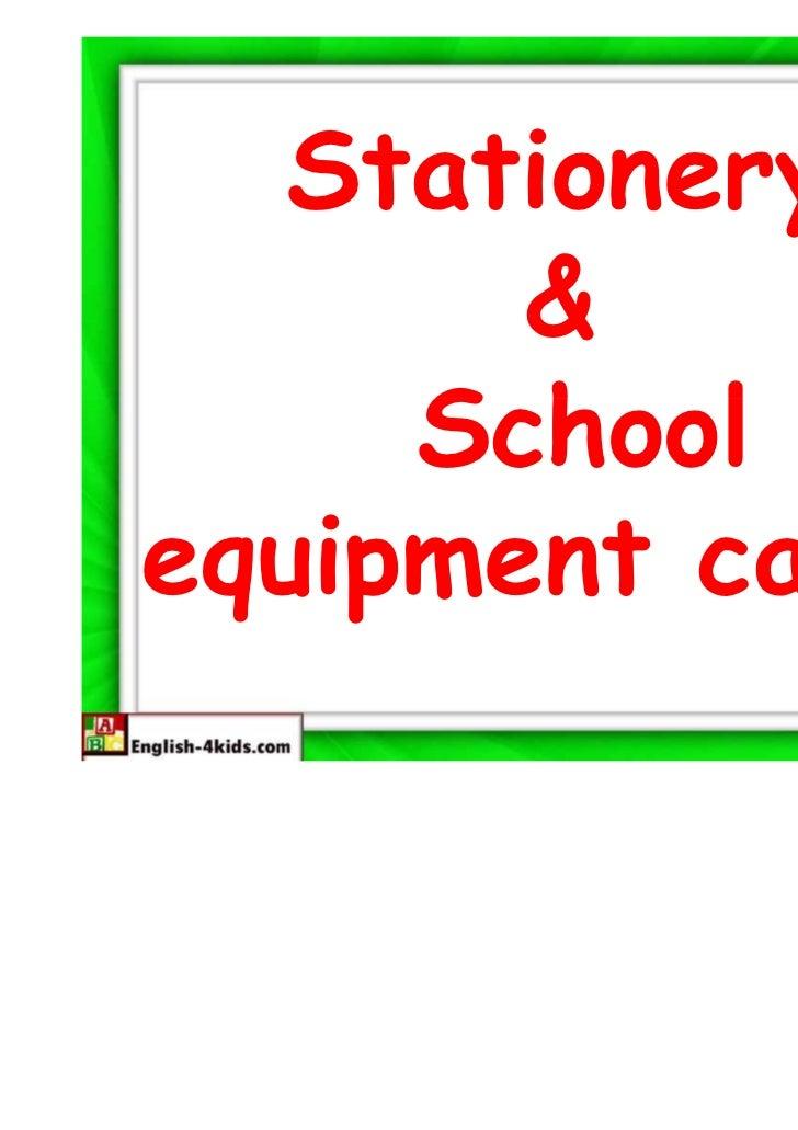 Stationery       &     Schoolequipment cards