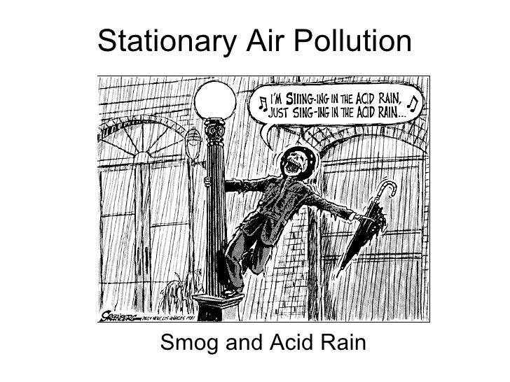 Stationary Air Pollution Smog and Acid Rain