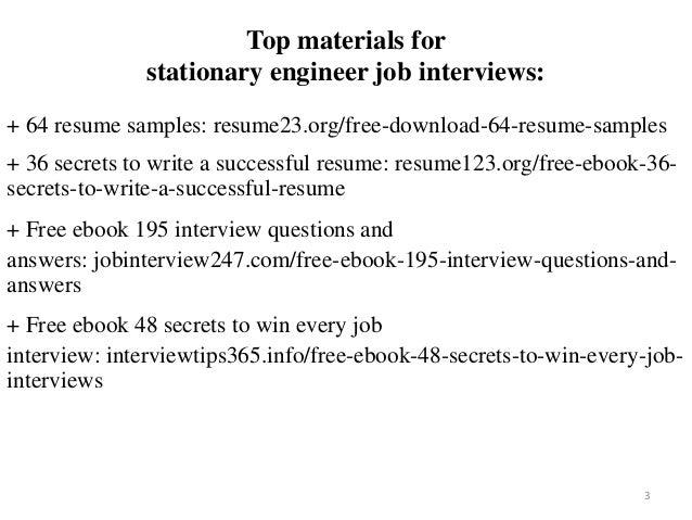 Stationary Engineer Resume Sample Pdf Ebook Free Download
