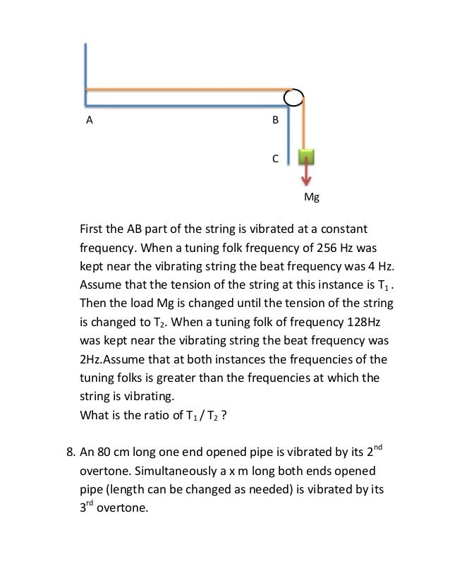 Stationary Waves Worksheet