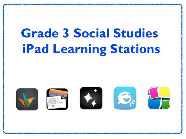 Grade 3 Social Studies iPad Learning Stations