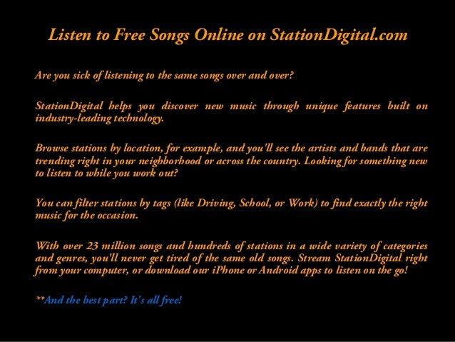 Listen to Free Internet Radio  !!