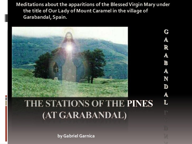 Meditations about the apparitions of the Blessed Virgin Mary under  the title of Our Lady of Mount Caramel in the village ...