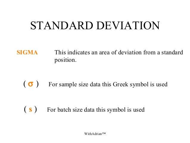 Statistics Sample Size Symbols