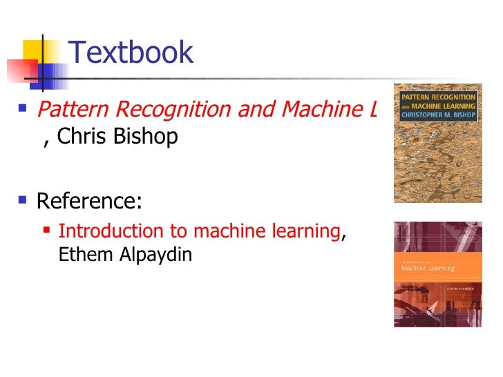 Pattern recognition and machine learning pdf