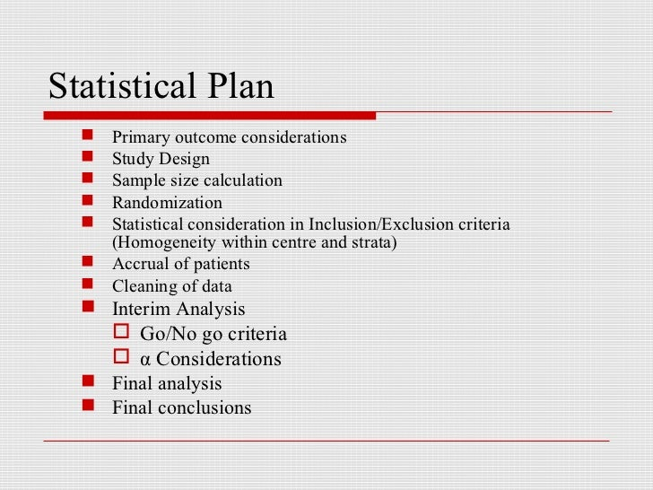Statistical Analysis Of Clinical Data Isi 30 01 07