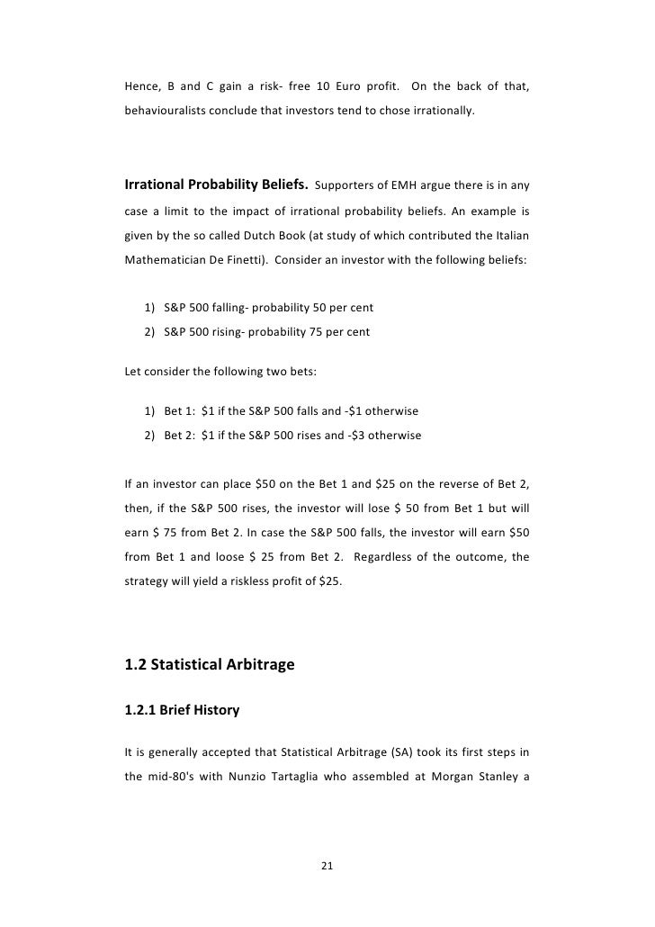 An intelligent statistical arbitrage trading system pdf