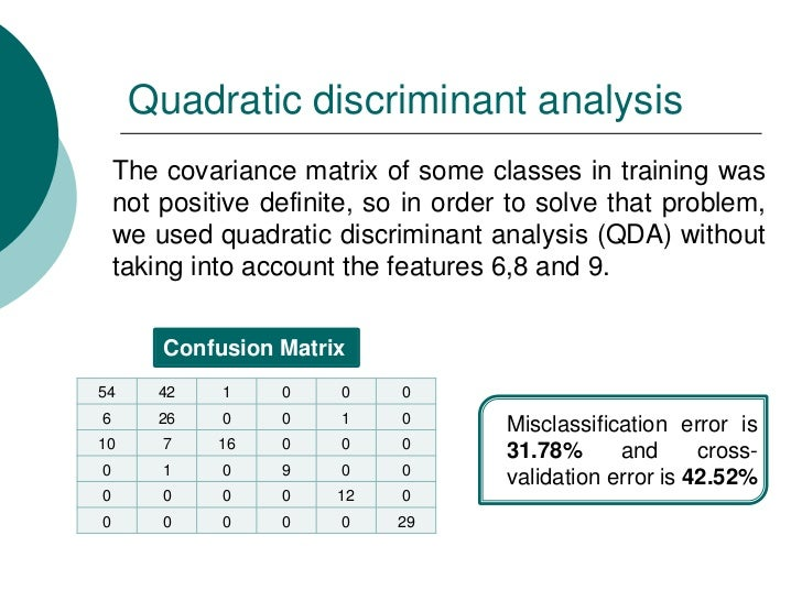 Statistical classification: A review on some techniques  Statistical cla...